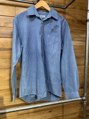 dior藍染シャツ