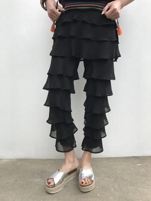 Black frilly pants