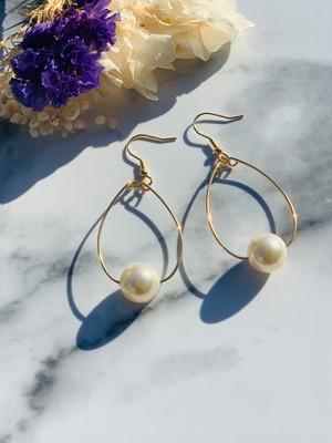 Pearl&GoldHoop