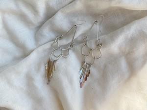 〈vintage silver925〉chandelier fringe pierce2