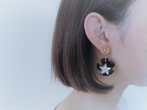 レオパード&スターピアス vintage pierced earrings leopard <PE-LPst>