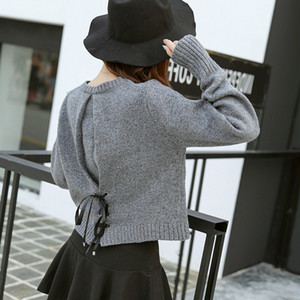 【tops】Western-style top with a slim new sweater