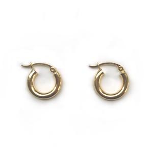 【14K-2-2】14K gold mini hoop earring