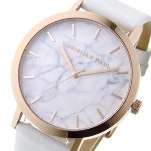 クリスチャンポール CHRISTIAN PAUL マーブル WHITEHAVEN ユニセックス 腕時計 MR-03(MWR4303) ローズゴールド/ホワイト ホワイト
