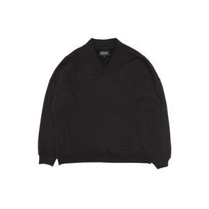 D-shoulder Triangle-neck Top_black オーバーサイズフルオーバー