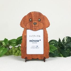 「トイプードル」木製写真立て(L判サイズ用)