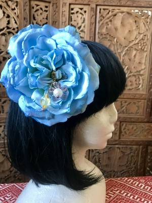 Flower hair ornament-Light blue1