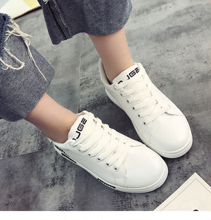 【sneakers】New Korean style white students thick bottom walking sneakers