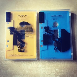 David Cordero & dot tape dot split cassette (Japan Tour limited edition)