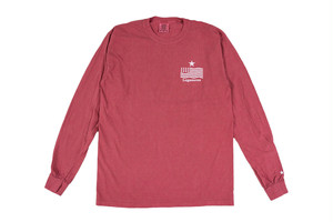 """【""""USA"""" vintage long sleeve】/ red"""