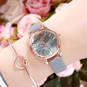 質感のいい 合わせやすい レザーベルト エレガント レディース 腕時計 <ins-2039>
