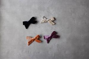 再販//velvet ribbon clip