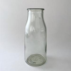 Clear Wide Mouth Milk Bottles|ヴィンテージのミルクボトル WM2