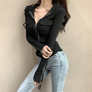 【アウター】ファッション韓国風フード付き長袖スリムニット着心地いいカーディガン33437651