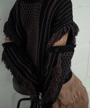 MULTIWAY CABLE KNIT PO(BLACK)