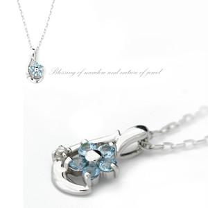 【piena】青いお花ネックレス