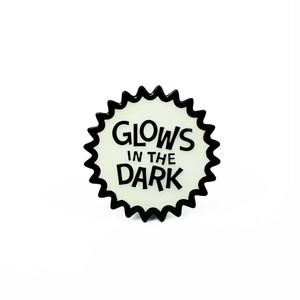 "Creepy Co.""GLOWS IN THE DARK ENAMEL PIN"""
