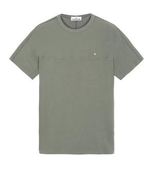 STONE ISLAND Stitched Panel T-shirt V0058 V.DE OLIVA/OLIVE 721521945