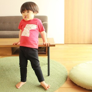 キッズTシャツ(ネイビー/デイジー/赤)いしカバくんボタニカル柄