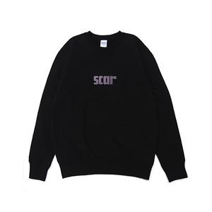 scar /////// SCARX CREW NECK SWEAT (Black)