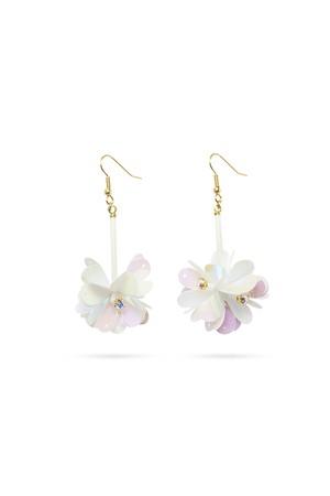 Spangles Flower Hook Earrings