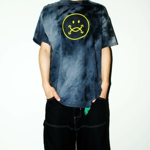 『TARZANKICK!!!』 smiley tie-dye T-shirt XL