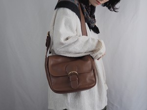 "AMERICA 1990's OLD COACH ""BROWN Leather"" DEAD STOCK shoulder bag"