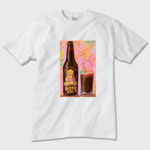 CHOCOLATE BEAR BEER BITTER メンズTシャツ 白