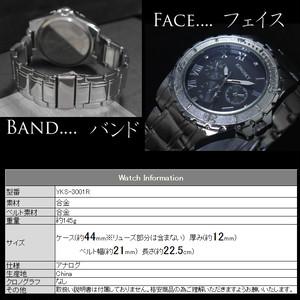 腕時計 アラビア文字 男性用 シルバー メタルバンド ウォッチ
