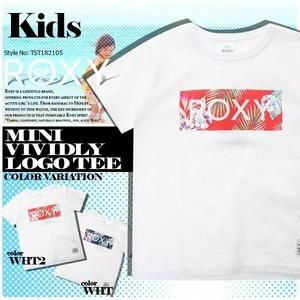 TST182105 ロキシー キッズ Tシャツ 120 130 選べる 2COLOR ホワイト ボタニカル トロピカル 白 MINI VIVIDLY LOGO TEE ROXY