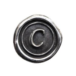 シーリングイニシャル S 〈C〉 シルバー / コンチョボタン
