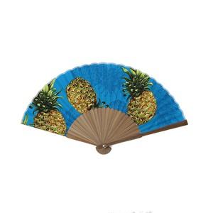 Hawaii Fabric扇子・パイナップル