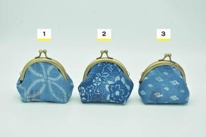 正藍冷染 がま口財布【丸形・小】