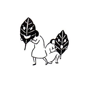 葉っぱ仮面 Mask of leaf