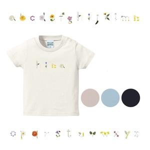 【名入れ】花文字Tシャツ(size90~160)