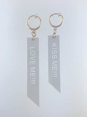◎SKbrothers ロゴearring /グレー