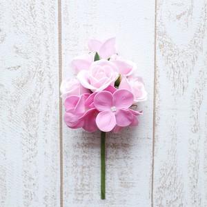 ミニバラ【薄Pink】バスフラワー 入浴剤 プレゼント 誕生日 贈り物 花 サプライズ ブーケ 母の日ギフト