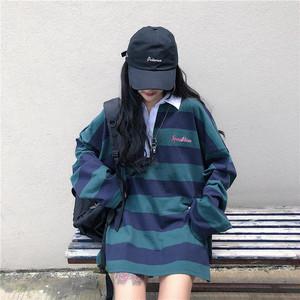【送料無料】オーバーサイズ♡ポロシャツ♡ボーダー♡