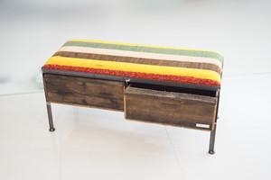 品番UNR2-108  2drawer ottoman[nerrow/ ネパール Tribal rug]