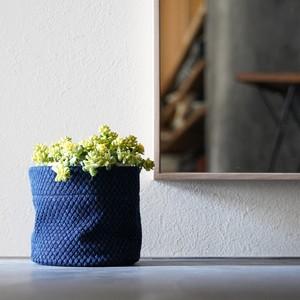 うしじま縫製   武州正藍染 鉢カバー【Sサイズ】 二重刺子