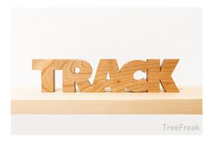 TRACK トラックの切り文字 インテリア(ピスト トラックバイク)