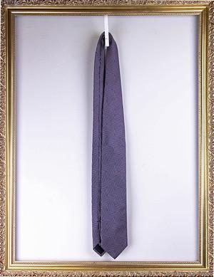 Attovannucci Silk Herringbone Tie -Purple アットヴァンヌッチ 大柄ヘリンボーンタイ
