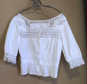 French 1920~40's Antique Lace Blouse