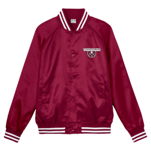 TSUBOMIN / TSUBOMIN ICON STADIUM JACKET BURGUNDY