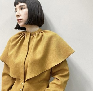 New!!  Cape collar blouse/Camel (2021 New collection)