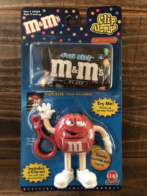 m&m's Clip Alongs Keyring Candy Dispenser Red/エムアンドエム chocolate ディスペンサー キーリング