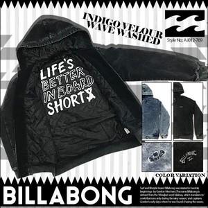 AJ012-769 ビラボン メンズ ジャケット 人気ブランド 入学 就職 プレゼント ブラック 薄い青 INDIGO VELOUR WAVE WASHED BILLABONG