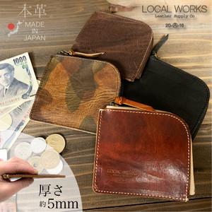 LOCAL WORKS 牛革 L字 財布 イタリアンレザー ヴィンテージ 日本製