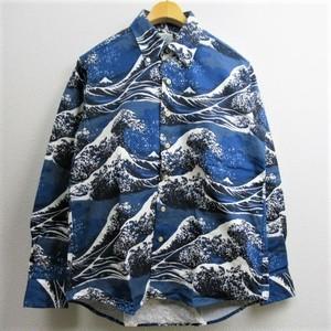 """THE SHARKY'S GALLERY オックスフォード B.Dシャツ """"日本画"""" COL,NAVY"""
