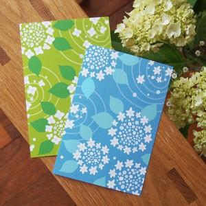 紫陽花のポストカード